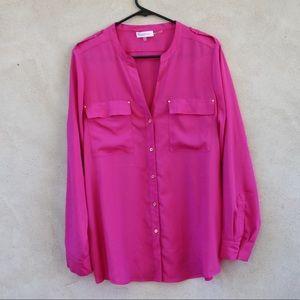 Calvin Klein Hot Pink Blouse